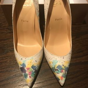 Christian Louboutin Pigalle Follies Python Bloom